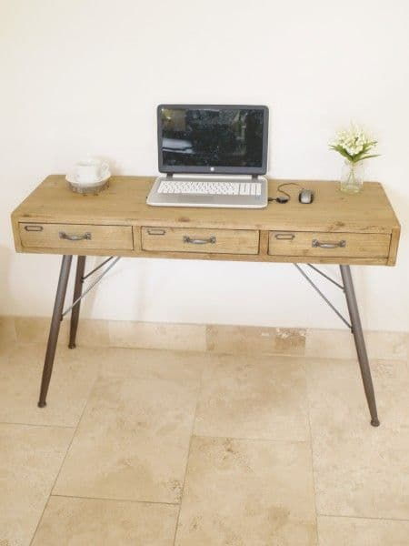 Industrial Computer Desk With Drawers